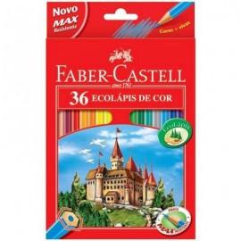 Lápis de Cor Estojo Sextavado com 36 cores - Faber Castell