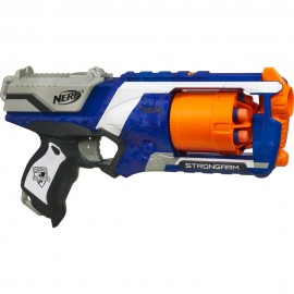 Lançador de Dardos Nerf N-Strike Strongarm - Hasbro A0710 - GERALSHOPPING