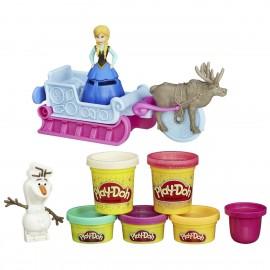 Conjunto Playdoh Trenó Frozen a Hasbro - geralshopping