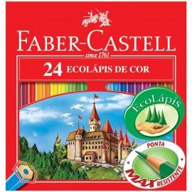 Lápis de Cor Estojo Sextavado com 24 cores - Faber-Castell