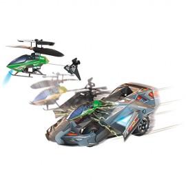 Carro com Helicóptero Comando de Elite 2 em 1 Verde - DTC