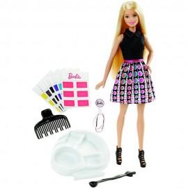Boneca Barbie Conjunto Salão De Cores - Mattel Dhl90 - Geralshopping