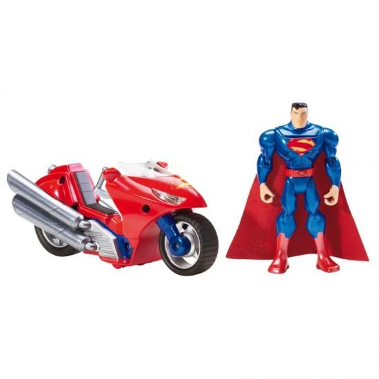 Boneco Super Homem com Veículo Liga da Justiça Superman  Mattel GERALSHOPPING